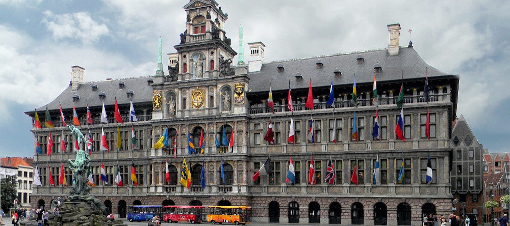 City Hall, the most remarkable building on the town square (Grote Markt) from Antwerp